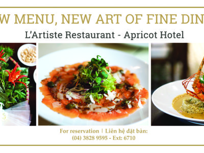 Apricot Htel new a la carte menu