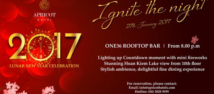 Apricot Hotel New Year celebration
